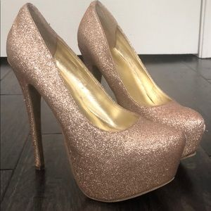 Justfab high heels SZ 6 good glitter pumps